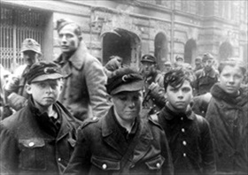 Captured German boy soldiers