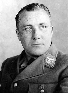 Party Chancellery chief and Hitler's private secretary, Martin Bormann