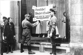 Nazi boycott of Jewish-owned businesses, April 1933