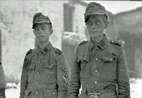 Captured soldiers of 12th Panzer Division