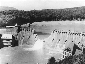 Eder dam breach, North Rhine-Westphalia, May 1943