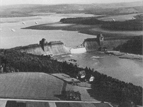 Moehne dam breach, North Rhine-Westphalia, May 17, 1943