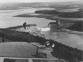 Operation Chastise: Moehne dam breach, North Rhine-Westphalia, May 17, 1943