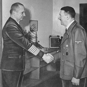 Karl Doenitz and Hitler, Berlin 1945