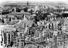 Dresden's city center in mid-February 1945