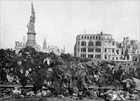 Allied air campaign over Germany: Dresden pyre for February 1945 bombing victims