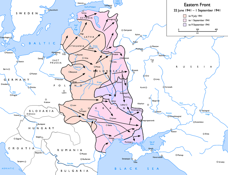 Germany's Eastern Front, June–September 1941