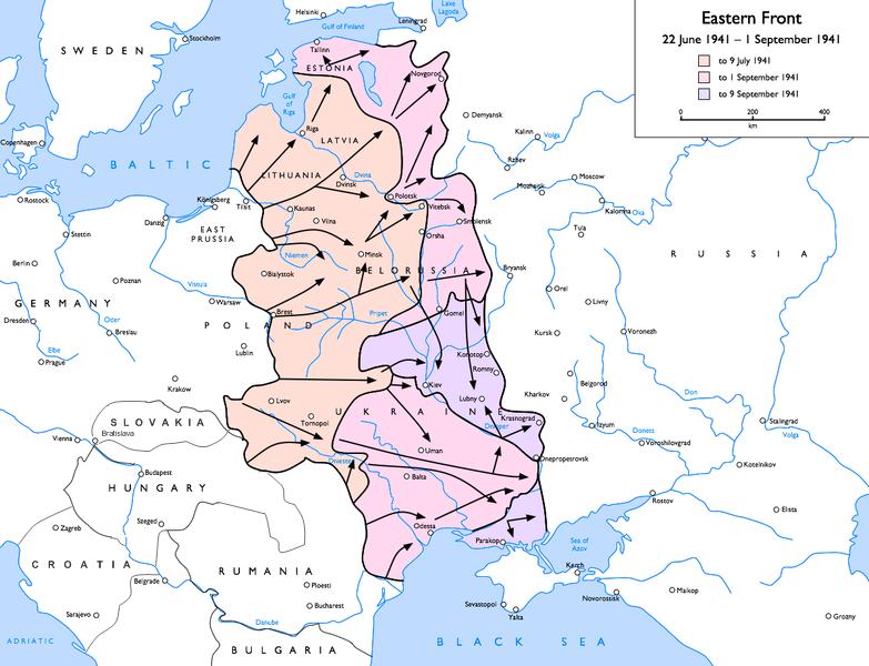 Germany's Eastern Front, June–September 1941