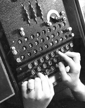 Three-rotor Luftwaffe Enigma machine