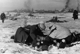 German evacuation of wounded, winter 1941