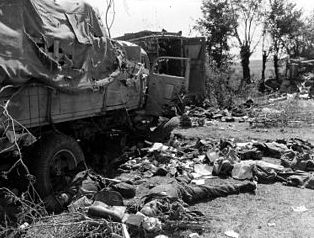 Falaise Pocket: Germans killed in a convoy ambush, mid-August 1944