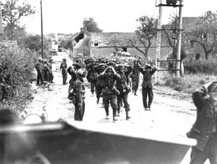 Falaise Pocket: German POWs, St.-Lambert, August 19, 1944