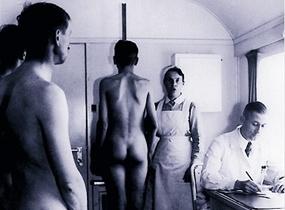Generalplan Ost: Settler applicant family Gliebe health test, 1941
