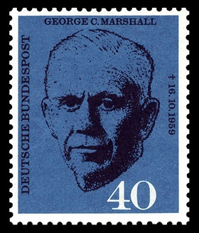 1960 West German Marshall stamp