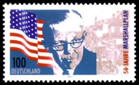1997 West German Marshall stamp