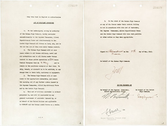 German Instrument of Surrender, May 7, 1945