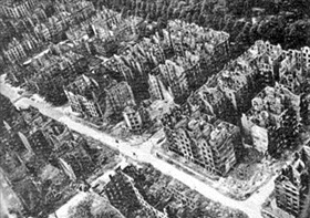 Effects of Operation Gomorrah, late-1943, on Hamburg