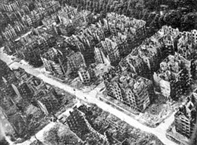 Hamburg from the air, 1944 or 1945