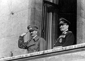 Hitler and Goering, Berlin, March 1938