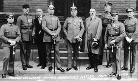 Accused participants of Munich's Beer Hall Putsch, April 1, 1924