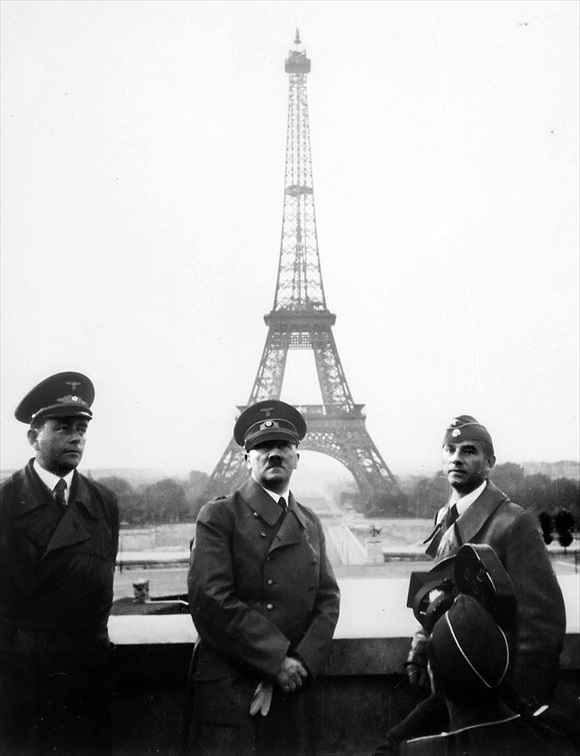 Albert Speer, Adolf Hitler, Arno Breker in Paris, June 28, 1940