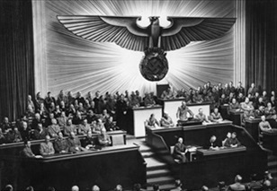Hitler declaring war on U.S., December 11, 1941