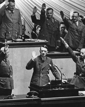 Germany declares war on U.S.: Hitler explains rationale to Reichstag, December 11, 1941