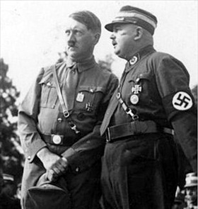 Adolf Hitler with Sturmabteilung (SA) Chief of Staff Ernst Roehm, 1933
