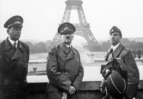 Speer (left) and Hitler in Paris, June 28, 1940