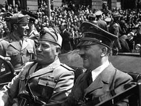 Benito Mussolini and Adolf Hitler, Munich, June 1940