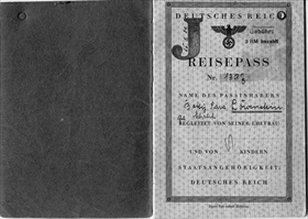 Anti-Semitic Nuremberg Laws: Jewish passport