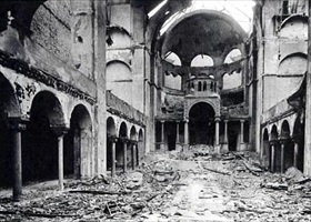 Berlin's Fasenenstrasse Synagogue after Kristallnacht