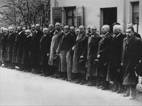 German Jews await deportation to concentration camp
