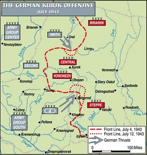 Location of Battle of Kursk