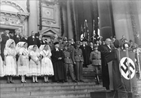 Installation of Reich Bishop Ludwig Mueller (at podium), September 23, 1934