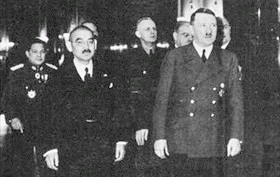 Japan foreign minister Yōsuke Matsuoka and Hitler, March 1941