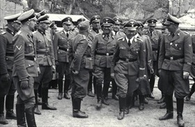 Himmler at Mauthausen granite quarry, Austria 1942