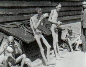 Mauthausen-Gusen survivors after liberation, June 1945