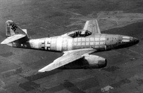 Messerschmitt Me 262A in flight