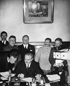 September 28, 1939, signing follow-up secret protocol to Molotov–Ribbentrop Pact