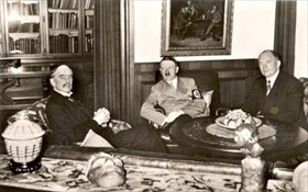 Chamberlain, Hitler, and Daladier, Munich, September 29, 1938