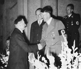 Chamberlain and Hitler, September 1938