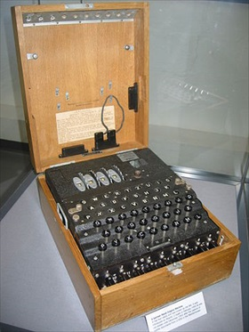 Four-rotor Kriegsmarine Enigma machine