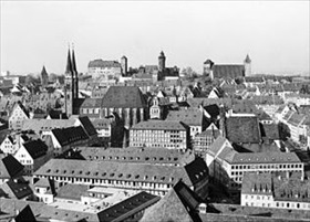 Nuremberg Altstadt after restoration, 1969