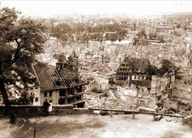 Bomb damage seen from Nuremberg's Castle Hill