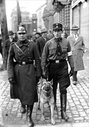 Berlin policeman and a Nazi SS man