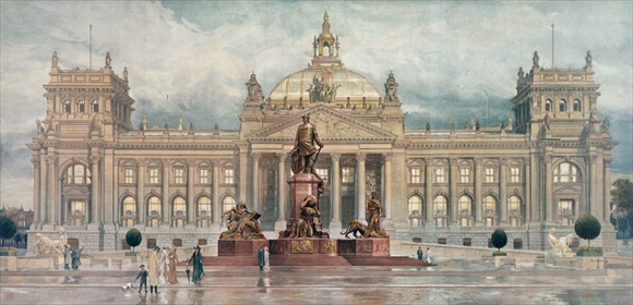 Reichstag and Bismarck Memorial, Berlin, 1910