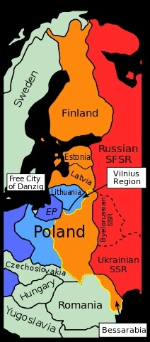 Planned German-Soviet division of Central Europe, 1939