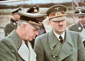 Ribbentrop and Hitler somewhere on front lines