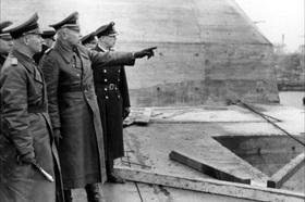 Rommel inspecting St. Nazaire's U-boat pens, February 18, 1944
